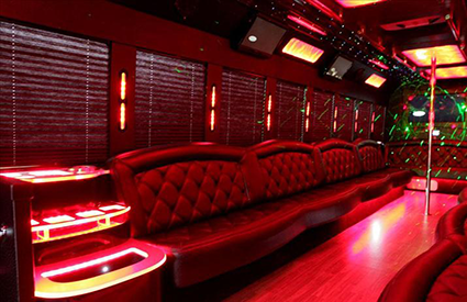 30 passenger Party Bus Interior