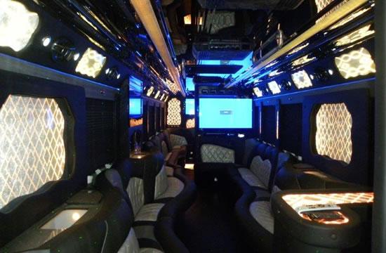 50 passenger limousine interior