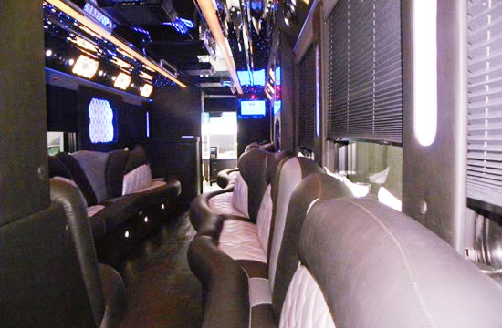 50 passenger party bus Interior