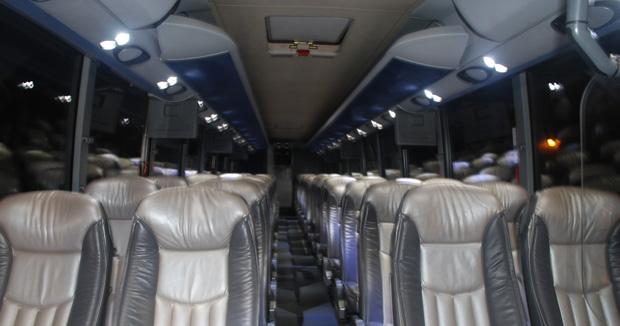 56 Passenger Limo Bus Interior