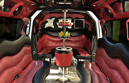 Hummer Stretch Limo Interior Red