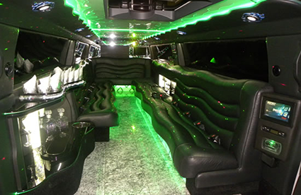 Expedition Super Stretch Limo Interior