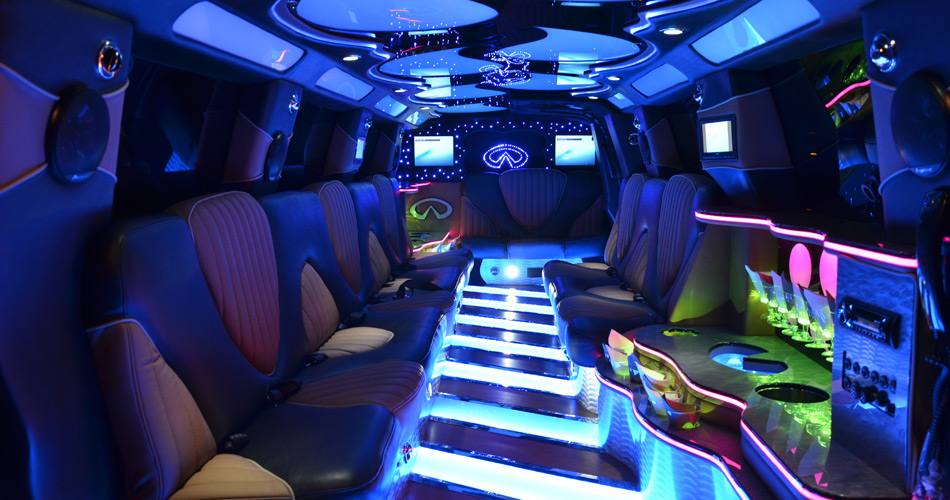 Infinity Super Stretch Limo Interior