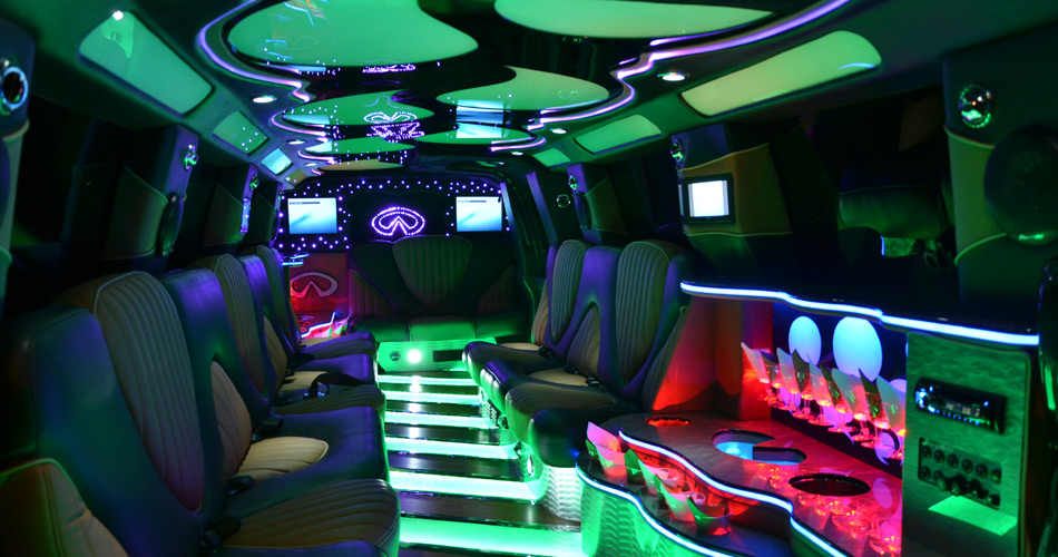 Infinity Super Stretch Limousine Interior